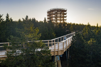 The treetop path is located in the Pohorje, the densely wooded mountains west of Maribor.