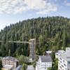 The tree top walk leads from Laax Murschetg to Laax village.