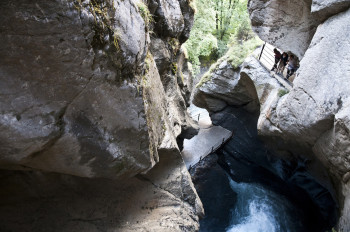 The Trümmelbach Falls are the biggest underground waterfalls in Europe.