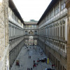 The Uffizi with the connecting vasalic corridor in the center.