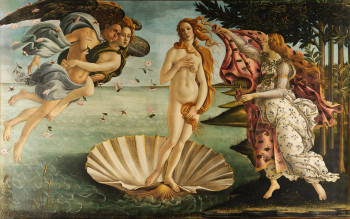 "The most famous exhibit of the Uffizi: Sandro Botticelli's ""The Birth of Venus"""