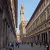 The Uffizi towards Piazza della Signoria, with Palazzo Vecchio in the background.