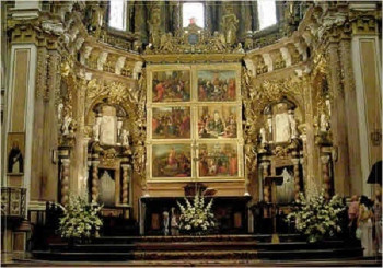 Inside the cathedral: high altar