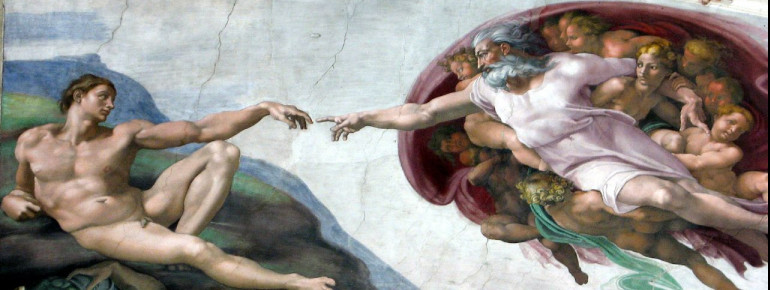 """Michelangelo's """"The Creation of Adam"""" is probably the most famous picture field in the Sistine Chapel"""