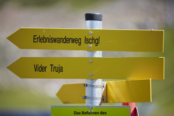 The Vider Truja is integrated into the Ischgl hiking network.