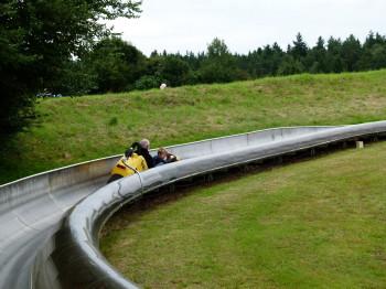 The bob run is 600 metres long.