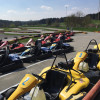 The go-kart track is among the most popular attractions.