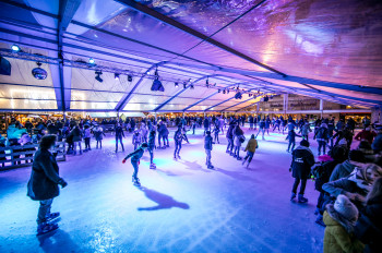 An ice rink is featured as well.