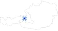 Spa recreation center Sonnrain in Saalfelden-Leogang: Position on map