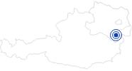 Therme/Bad Therme Linsberg Asia in den Wiener Alpen in Niederösterreich: Position auf der Karte