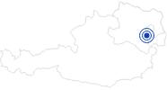 Therme/Bad Römertherme Baden in den Wiener Alpen in Niederösterreich: Position auf der Karte