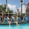 Pirate ship in the play pool of Le Caravelle