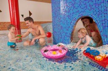 Enjoyable splashing in the children's pool