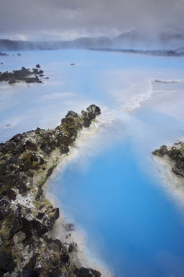 Aerial view of the Blue Lagoon.