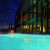 The outdoor brine pool of the Fontane Therme Neuruppin
