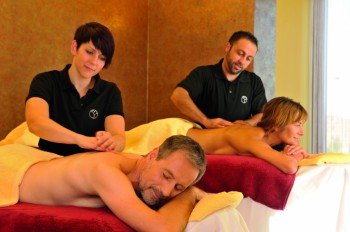 Couple massages are also offered in the spa area of Fontane Therme Neuruppin