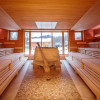 There are a number of different saunas to choose from.