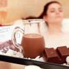 Chocolate bath at the spa area.