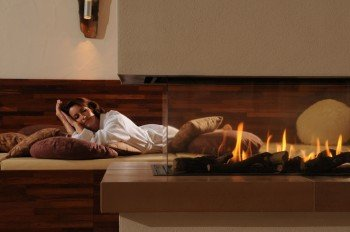 The calming effect of fire brings to bear at the quiet room with its fireplace.