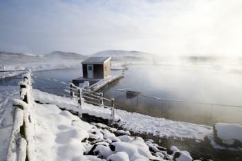 Myvatn Nature Baths in winter.