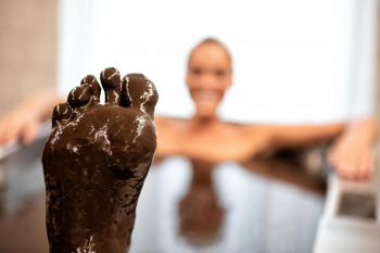 Mud baths a a great way to relax your muscles and mind.