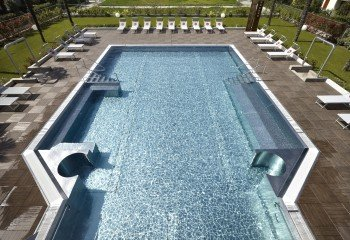 The large outdoor pool