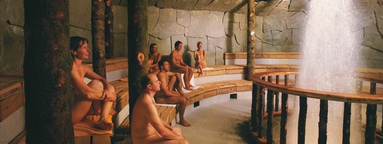 Geysir at the sauna area.