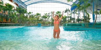 Wave-generating pool.