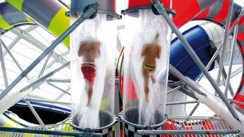 Speed Racer water slide at Galaxy.
