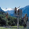 Jumping board at Strandbad Klosters