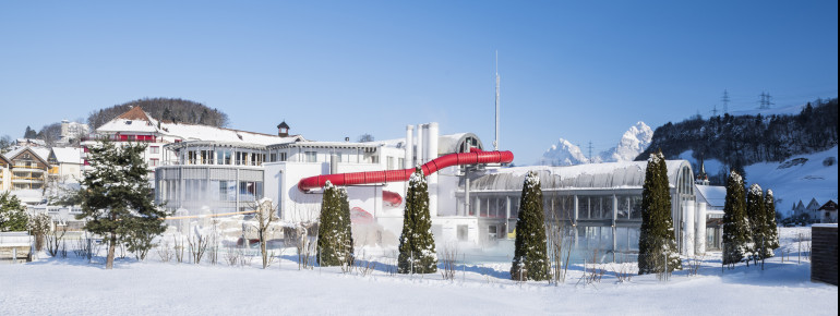 The adventure pool of the Swiss Holiday Park is perfect for a family outing.