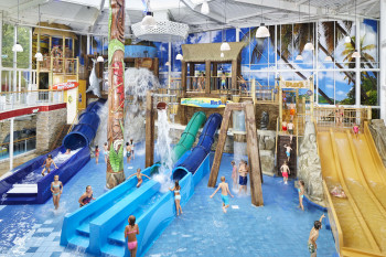 At Playa Water Park, kids will have a blast.