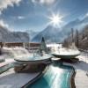 Auch im Winter ist der Aqua Dome mit seinen wollig warmen Außenpools einen Besuch wert.