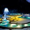 Aqua Dome bei Nacht