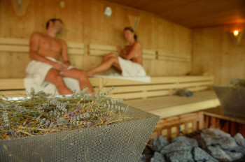 Sauna mit Kräuter