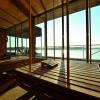 Die Seesauna bietet einen traumhaften Blick auf den Ruppiner See