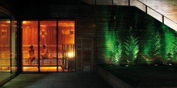 Auch Saunafreunde kommen im Liquidrom nicht zu kurz