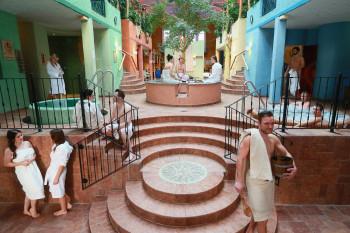Innenbereich der Sauna