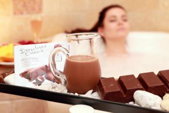 Schokoladenbad im Wellnessbereich