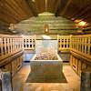 In der Kelo Sauna schwitzt du zu entspannenden Melodien.