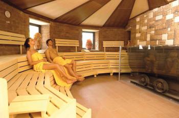 Blick in die Bergwerk-Sauna.