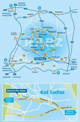 Karte mit Anfahrtsbeschreibung