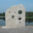 Blicke durch die Perspektivenwand auf den Eginger See!