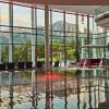 Die Galerie-Ebene bietet einen tollen Blick auf die Berge.