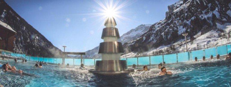 Im 35°C warmen Erlebnisbad findet man Ruhe und Entspannung.