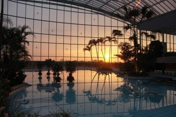 Sonnenuntergang in der Therme.