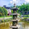 Der Zen Garten lädt zur Erholung ein.