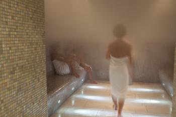 Es gibt einen eigenen Saunabereich für Damen.
