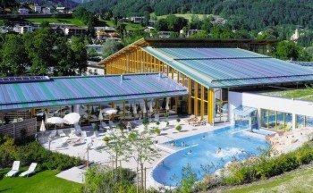Das Außenbecken der Watzmann Therme in Berchtesgaden