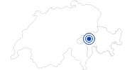 Badesee/Strand Badesee Davos Munts in Surselva: Position auf der Karte